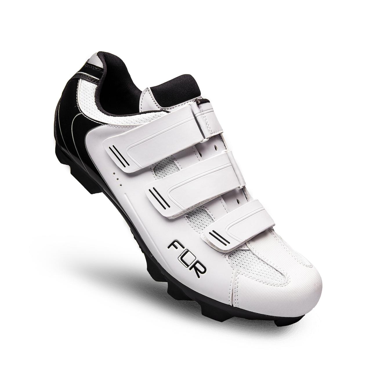 FLR F-55 MTB shoes - white/black
